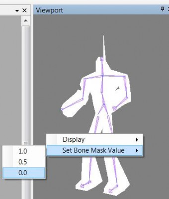 Setting mask value in viewport