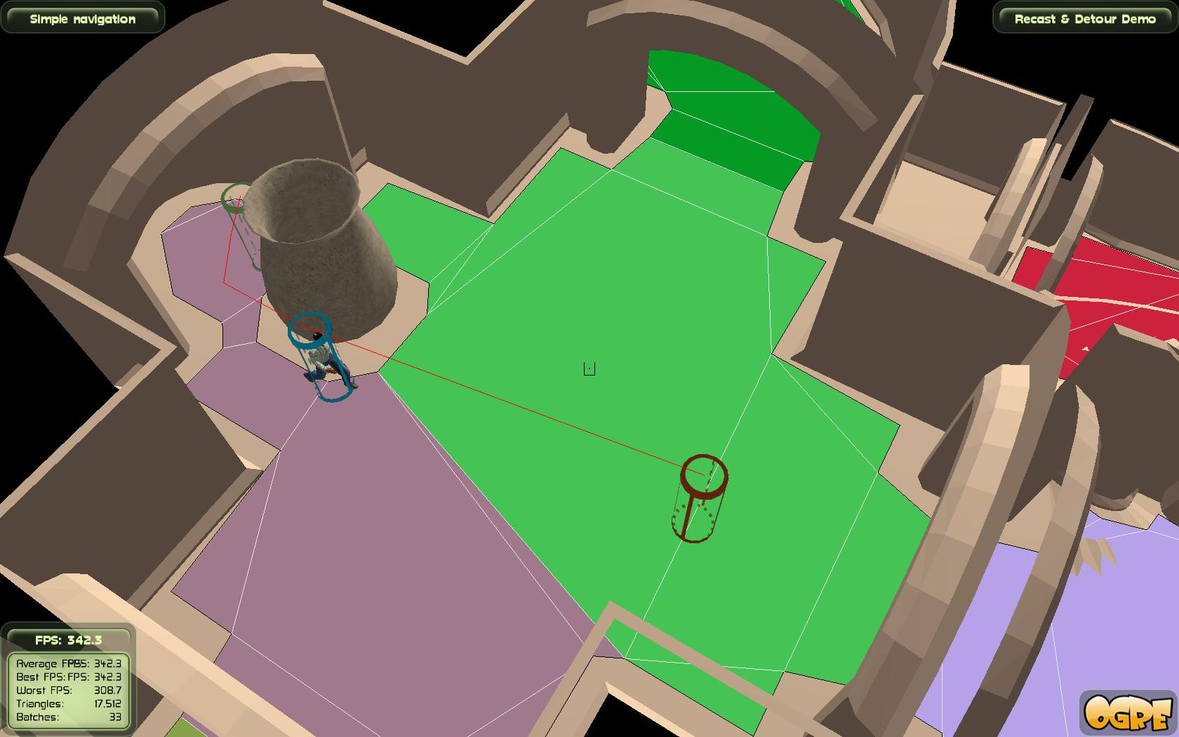 Obstacles limit the walkable part of the navmesh